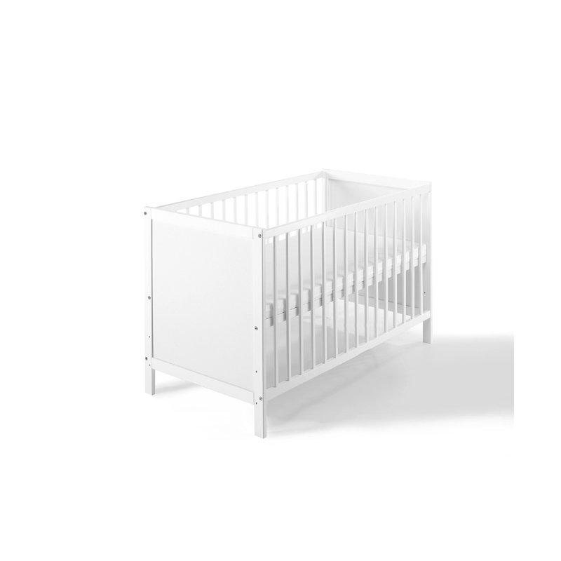 kinderbett babybett leo kiefer massiv wei 95 90. Black Bedroom Furniture Sets. Home Design Ideas