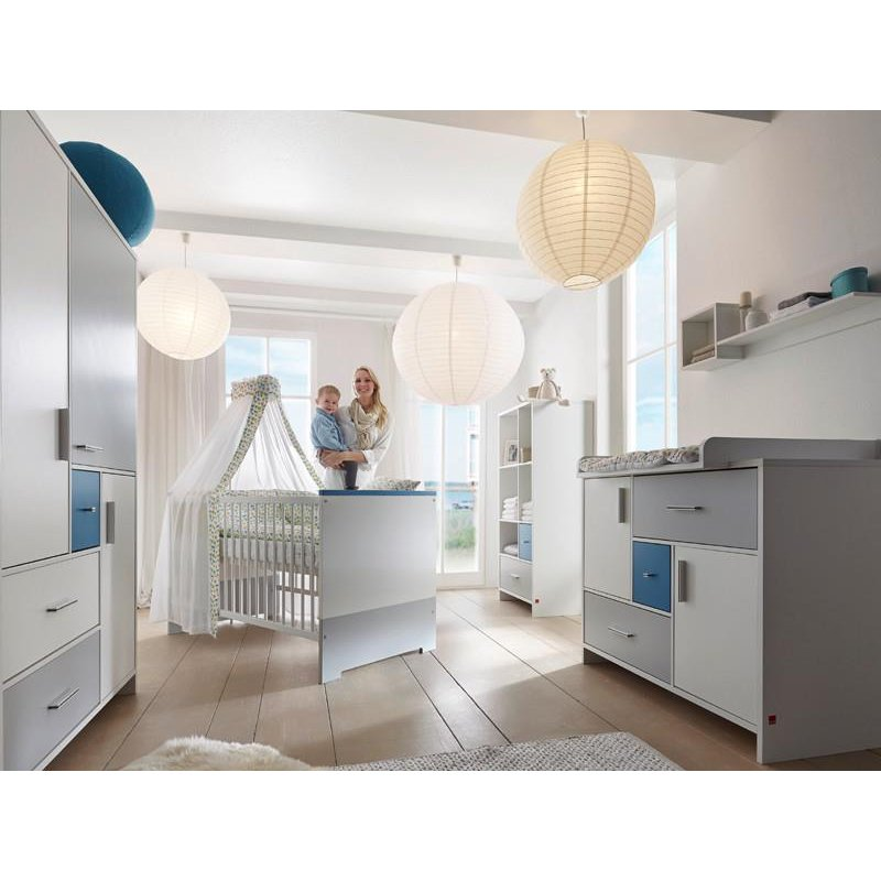 kinderzimmer candy blue dekor wei mdf blau und grau. Black Bedroom Furniture Sets. Home Design Ideas