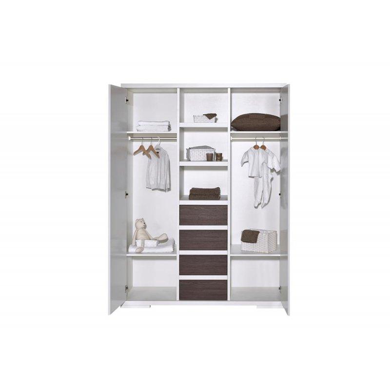 schrank 2 t rig mit mittelregal maxx fleetwood dekor wei mdf w 709 00. Black Bedroom Furniture Sets. Home Design Ideas