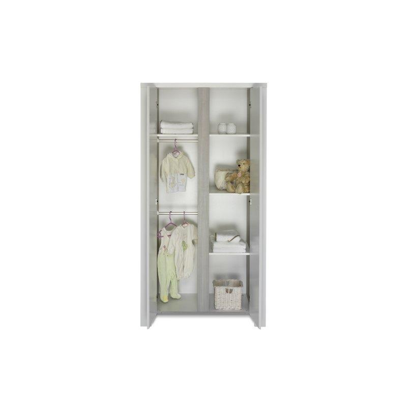 schrank 2 t rig milano pinie holzdekor pinie silber mdf wei 479 00. Black Bedroom Furniture Sets. Home Design Ideas