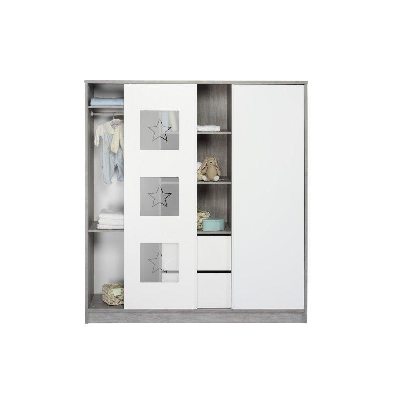 schrank 2 t rig mit mittelregal eco star holzdekor driftwood de 629 00. Black Bedroom Furniture Sets. Home Design Ideas