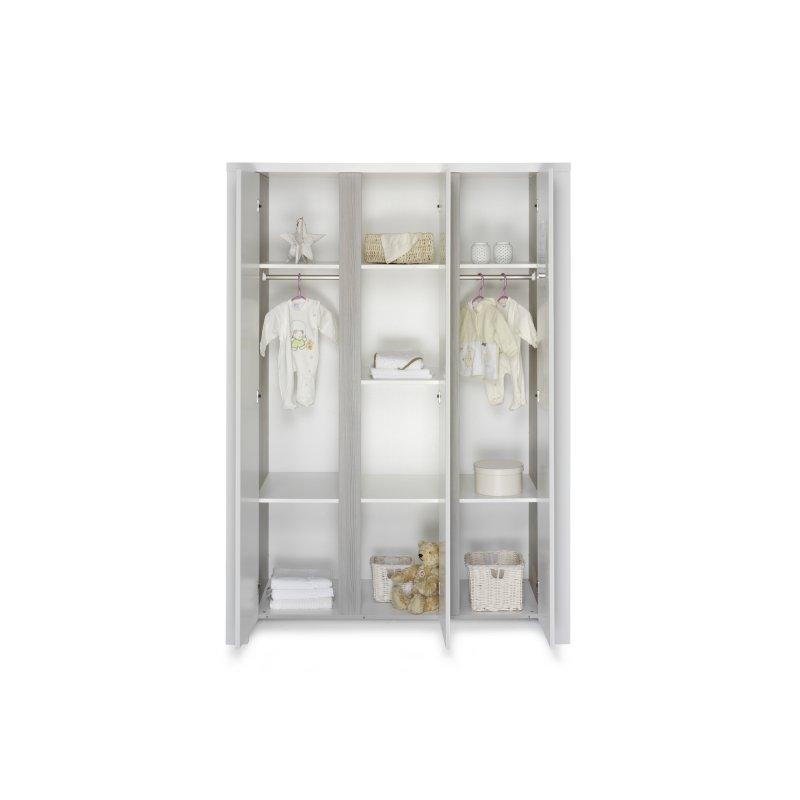 schrank 3 t rig milano pinie holzdekor pinie silber mdf wei 569 00. Black Bedroom Furniture Sets. Home Design Ideas