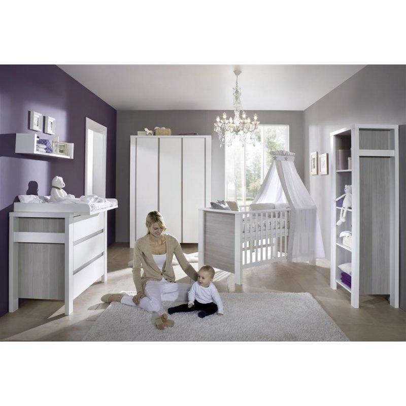 schrank 3 t rig milano pinie holzdekor pinie silber. Black Bedroom Furniture Sets. Home Design Ideas