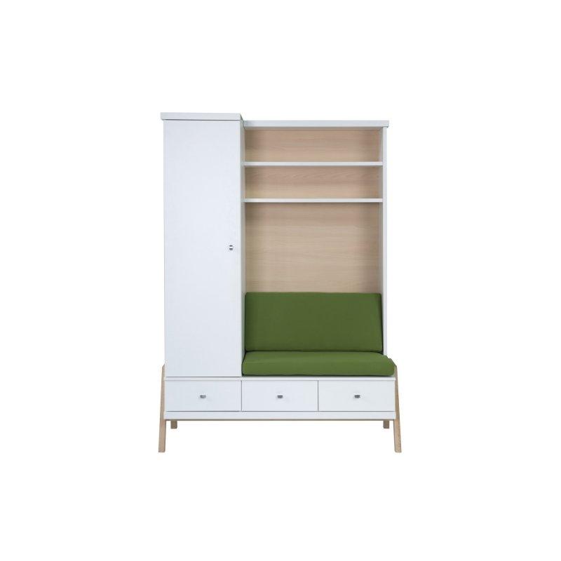 schrank mit wickelkommode 3 t rig holly nature dekor wei holzd 570 00. Black Bedroom Furniture Sets. Home Design Ideas