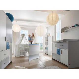 kinderzimmer candy blue dekor wei mdf blau und grau lackiert 989 00. Black Bedroom Furniture Sets. Home Design Ideas