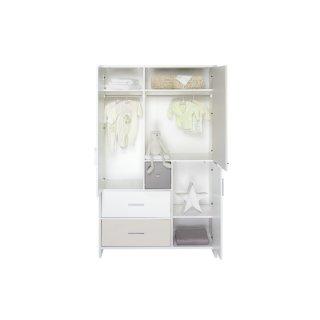 schrank 3 t rig candy dekor wei mdf beige und grau lackiert 479 00. Black Bedroom Furniture Sets. Home Design Ideas