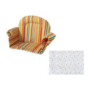 sitzkissen mit armlehne sternchen rot f r hochstuhl maxim 24 90. Black Bedroom Furniture Sets. Home Design Ideas